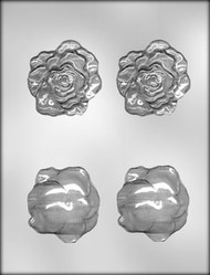 "2-1/2"" 3D ROSE HEAD CHOCOLATE CANDY MOLD"