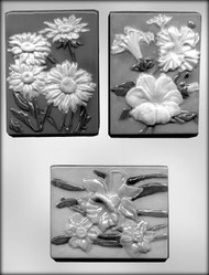 "4-1/4"" FLWR PLAQUE #3 CHOCOLATE CANDY MOLD"