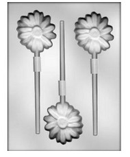 "2-3/4"" DAISY SUCKER CHOCOLATE CANDY MOLD"