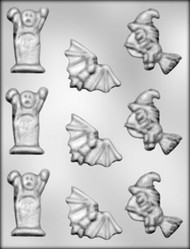 "1"" PUMPKIN CHOCOLATE CANDY MOLD"