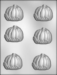 "2-1/2"" PUMPKIN/LEAVES CHOCOLATE CANDY MOLD"