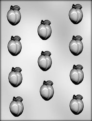 "1-1/2"" PEACH CHOCOLATE CANDY MOLD"