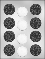 "1-3/4"" SANDWICH COOKIE CHOCOLATE CANDY MOLD"