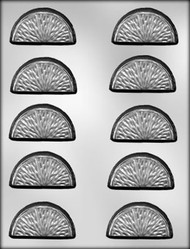 "2-1/4"" CITRUS SLICE CHOCOLATE CANDY MOLD."