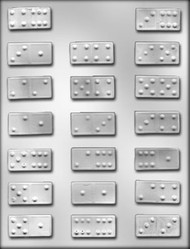"""1-3/4"""" DOMINO CHOCOLATE CANDY MOLD"""