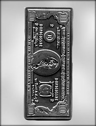 "8-3/4"" $100 (HUNDRED DOLLAR) BILL CHOCOLATE CANDY MOLD"