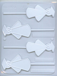"3-5/8"" GRAD SUCKER CHOCOLATE CANDY MOLD"