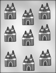 "2"" CASTLE CHOCOLATE CANDY MOLD"