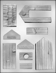 """4-1/4"""" 3D OUTHOUSE CHOCOLATE CANDY MOLD"""