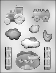 "1-3/8"" - 3-1/4"" FARM SCENE CHOCOLATE CANDY MOLD"