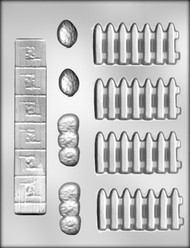 "1-1/2"" FENCE/SIDEWALK CHOCOLATE CANDY MOLD"