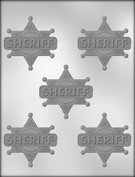 "2-1/2"" SHERIFF BADGE CHOCOLATE CANDY MOLD"
