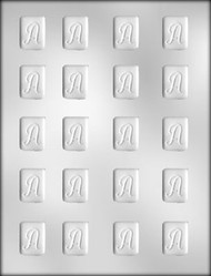 """1-1/4"""" INITIAL A MINT CHOCOLATE CANDY MOLD"""