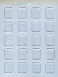 """1-1/4"""" INITIAL C MINT CHOCOLATE CANDY MOLD"""