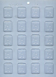 """1-1/4"""" INITIAL H MINT CHOCOLATE CANDY MOLD"""