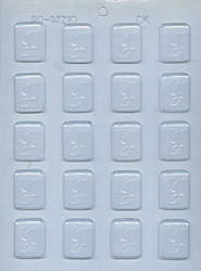 """1-1/4"""" INITIAL J MINT CHOCOLATE CANDY MOLD"""