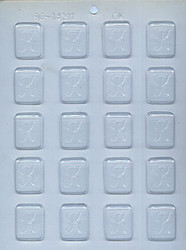 """1-1/4"""" INITIAL K MINT CHOCOLATE CANDY MOLD"""