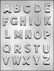 "1-1/4"" ALPHABET CHOCOLATE CANDY MOLD"