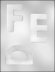 "4"" LETTER D-E-F CHOCOLATE CANDY MOLD"