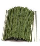 12 Inch Green Cloth-Covered Floral Wire--1 lb. Bundle