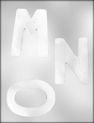 "4"" LETTER M & W-N-O CHOCOLATE CANDY MOLD"
