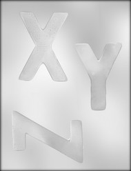 "4"" LETTER X-Y-Z CHOCOLATE CANDY MOLD"