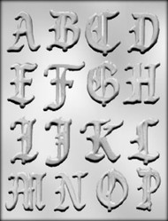 "2"" ALPHABET A-P CHOCOLATE CANDY MOLD"