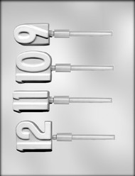 """2"""" NUMBER 9-10-11-12 SKR CHOCOLATE CANDY MOLD"""