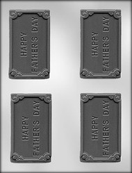 "3-3/4"" FATHERS DAY CARD/BAR CHOCOLATE CANDY MOLD"