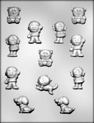 "1-1/4"" - 1-3/4"" CHILDREN/PETS CHOCOLATE CANDY MOLD"