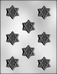 "2"" STAR OF DAVID CHOCOLATE CANDY MOLD"