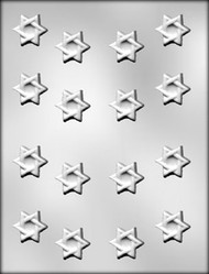 "1-1/4"" STAR OF DAVID CHOCOLATE CANDY MOLD"