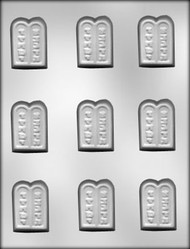 "2-3/4"" TEN COMMANDMENT CHOCOLATE CANDY MOLD"
