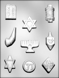 "1-5/8"" - 2-5/8"" JEWISH SYMBOL CHOCOLATE CANDY MOLD"