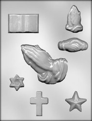 "1-1/4"" - 4-1/4"" RELIGIOUS ASSTMT CHOCOLATE CANDY MOLD"