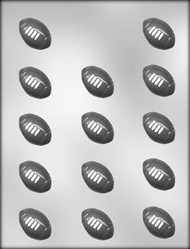 "1-1/2"" FOOTBALL CHOCOLATE CANDY MOLD"