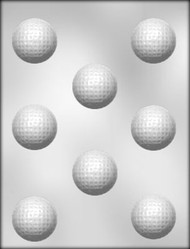 "1-5/8"" GOLF BALL CHOCOLATE CANDY MOLD"