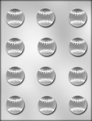 "1-1/2"" SOFTBALL CHOCOLATE CANDY MOLD"
