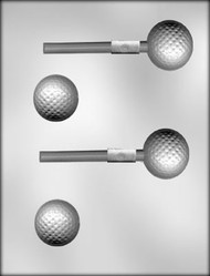 3D GOLF BALL SUCKER CHOCOLATE CANDY MOLD