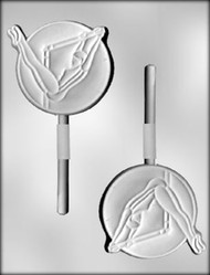 "4"" GYMNAST SUCKER CHOCOLATE CANDY MOLD"