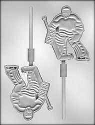 "4-1/4"" GOALIE SUCKER CHOCOLATE CANDY MOLD"