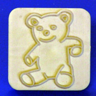 "Plastic Embosser--Bear--1-1/2""; x 1-1/2"" Outer Plastic Square"