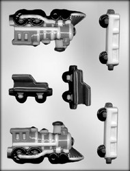 "4-1/2"" 3D TRAIN CHOCOLATE CANDY MOLD"