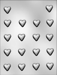 "7/8"" PLAIN MINI HEART CHOCOLATE CANDY MOLD"