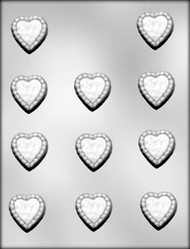"1-3/8"" RUFFLED HEART CHOCOLATE CANDY MOLD"