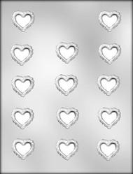 "1-1/4"" FILIGREE HEART CHOCOLATE CANDY MOLD"