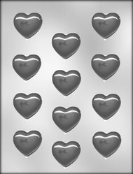 "1-5/8"" SMOOTH HEART CHOCOLATE CANDY MOLD"