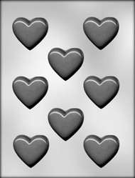 "2"" SMOOTH HEART CHOCOLATE CANDY MOLD"