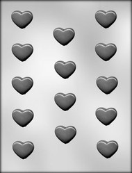 "1-1/4"" PLAIN HEART CHOCOLATE CANDY MOLD"