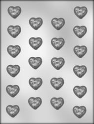 "1"" HEART W/ROSES CHOCOLATE CANDY MOLD"